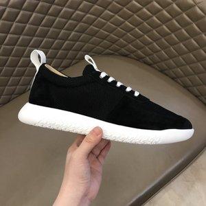 2020 Новый Дизайнерская обувь Sorrento Sneaker Knit Повседневный тренеры Мужчины Ткань Stretch Джерси скольжения на кроссовки Резиновые дышащие Повседневная обувь R43