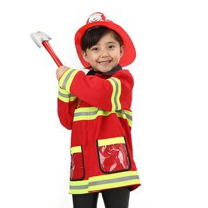 infantil Trajes Role-playing com os bombeiros Chapéus Eixos extintores adequados para várias ocasiões Três Modelos Disponíveis Red
