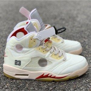 Mens Off V 5 Grayish jaune Basketball Chaussures meilleure qualité SP Sport Chaussures de sport Taille US7-13 bateau avec la boîte