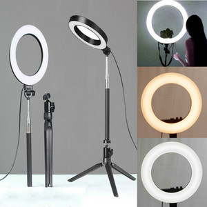 New RING LED Light Studio Photo Video Dimmable Lampe trépied selfie téléphone appareil photo