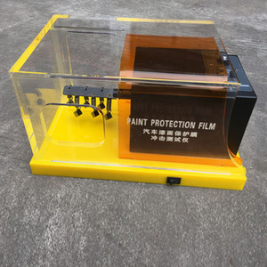 Amarillo TPU PPF Films Rasca y pruebas de pintura de alta calidad del coche Película de protección Gravelómetro prueba de la máquina MO-620