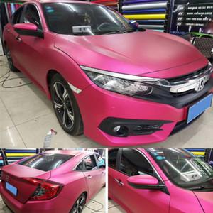 Ceramica di lusso satinato Chrome Red Rose vinile avvolgere pellicola dell'automobile per il veicolo Copertura avvolgimento con rilascio dell'aria Foil Sticker Size 1.52x20m