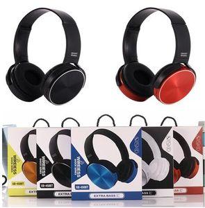 Kablosuz Bluetooth Kafa Kulaklık Ekstra Bas Kulaklıklar Kablolu Kulaklık Stereo Müzik Cep Telefonu perakende paketi için Mikro XB450 ile DHL