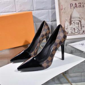Sapatos de salto alto Mulheres Sandálias De Couro Sapatos De Salto Deisgner Sapatos de Salto Alto Senhora De Couro Sapatos de Casamento Vestido de tamanho 35-40 com caixa L2
