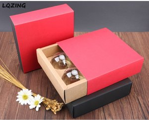 20pcs Kraft Paper Cupcake Box With 4 Grids Wedding Birthday Party Cake Box Drawer Style Cupcake Packaging Boxes Carton Wholesale