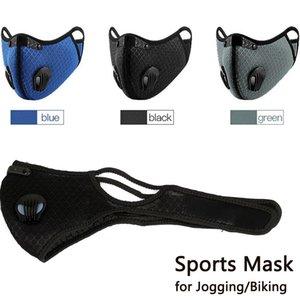 Antistaub-Riding Maske Carbon-Laufen Outdoor Mundschutz Antifog-Männer Frauen Biking Gesichtsmaske Fahrrad staubdicht Sport für Jogging