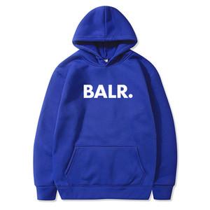 BALR Mode Marque capuchons pour hommes 2020 Printemps Automne Homme mens designer Casual Sweatsuit Solid Color hombre femmes Streetwear concepteur pull-over