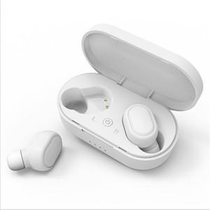 Auricular inalámbrico Bluetooth para auriculares de cuatro colores TWS M1 gemelos Mini V5.0 Con el muelle del cargador auriculares estéreo de auriculares para el teléfono elegante
