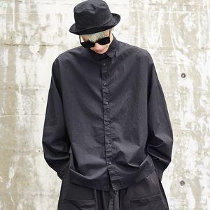 Männer Japan Street Fashion Punk Langarm lose beiläufige Hemden Aufmaß Male Hip Hop Dress Shirt Mantel Stage Show-Kostüme