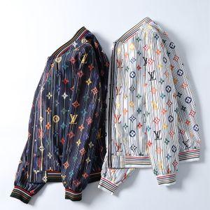 Fashion casual jacket Mens Solid Casual Slim Fit Bomber Jacket Autumn Winter Jean Jackets For Men Men's Graffiti Hip Hop Cowboy Jackets