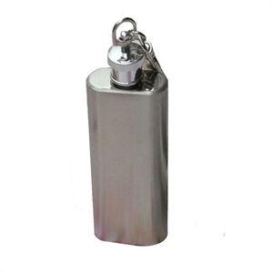 Hip AG 24 Mosunx negocio de venta caliente mini 2 oz de acero inoxidable frasco de la garrafa del alcohol con el llavero de Promoción Nueva