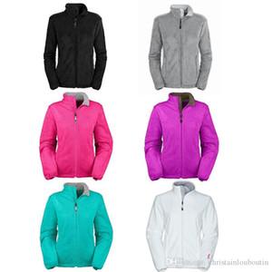 2019 Yeni Kadın Osito Fleece Fermuar Ceketler Moda Spor açık siyah beyaz ceket dış giyim rüzgar geçirmez pembe kurdele
