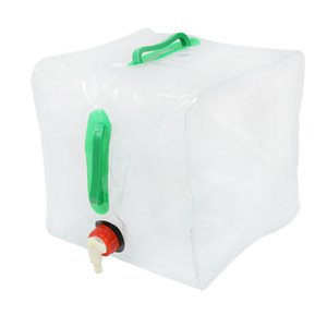 20L PVC Water Bags Outdoor Camping Transparent Plastic Folding Kettle Drinking Bags Camp Cooking Supplies