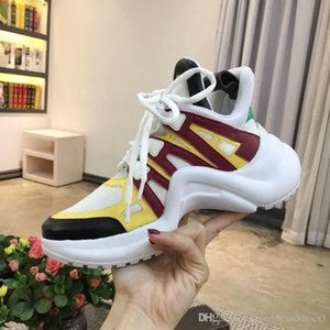 TOP Black Casual Shoes White Blue Monogram Black ARCHLIGHT sneakers Genuine Leather Trainers Runner Shoe With Shoes Box
