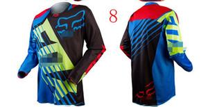fox chemise cross-country explosif VTT T-shirt à manches longues costume Maillot cyclisme évacuant l'humidité vers le bas de veste ultra-léger