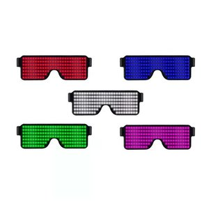 Neon LED Glasses Dynamic Glowing Light Novelty Light Festival Party Sunglasses Party Decoration Vision Glass Luminous Rave Night