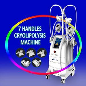 ETG50-5S Mejores 7 Cryo Handles Beauty Equipment Cryolipolysis Cool Tech Cavitación Vacío RF Fat Freezing Beauty Spa Equipment