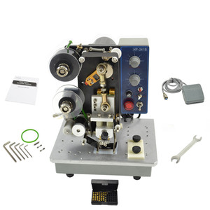 Electric Semi Automatic Hot Stamping Printer Date Coder Machine Color Ribbon Printing Tool Hot Foil Coder