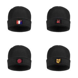 Fits Moda Cleveland Ohio City Skyline Slouch Assista Beanie chapéu sob Capacetes Chapéus Estados Unidos Ohio Amor simples logotipo OHIO Estado de bandeira