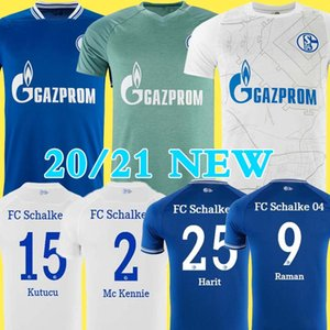20 21 Schalke Football Maillots Kutucu Serdar 2020 2021 FC Schalke 04 Harit Raman home away troisième football shirt Ozan Harit