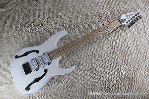 Creux Blanc Instruments de musique Guitare Body Trois micros IBZ Guitare électrique Lefty Chine OEM sur mesure disponible