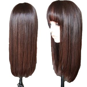 Highlights Blonde 4 360 Lace Frontal Human Hair Wigs With Bangs Brazilian silky Straight 13x6 Lace Front Wig Remy Hair full lace Fringe Wig