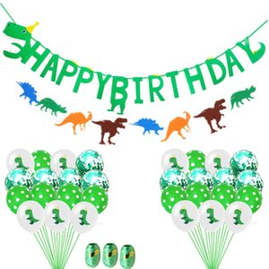 12inch Dinosaurier Thema Luftballons Grüne Sequin Ballons 12 '' Dot New Year Party Weihnachten Halloween-Dekor baloons Kinder-Tier-Geburtstags-Dekorationen