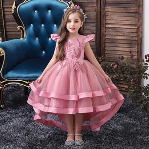 فتاة المرحلة ملابس ثوب 2020 الصيف الجديدة ملابس أداء فساتين ذيل البيانو الأطفال للأطفال كبيرة الأطفال اللباس الجملة