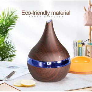 300 мл USB электрический аромат воздуха диффузор древесины ультразвуковой увлажнитель воздуха эфирное масло ароматерапия прохладный туман чайник для дома идея