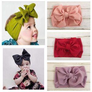 Fotografia fascia del bambino solido Bowknot di colore Accessori per capelli fai da te appena nato ragazze mais noccioli di archi dei capelli Headwrap del bambino Props C220