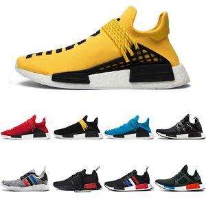 Runner R1 Человеческая раса Pharrell Williams Cred Образцы Желтые Мужчины Женщины Теннисная Обувь Ботаник Черный Крем Белый OG Классические Primeknit Спортивные тренажеры