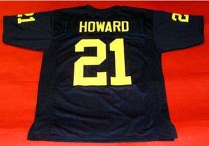 Donna-Uomo della gioventù Vintage CUSTOM MICHIGAN Wolverines # 21 Desmond Howard del calcio Jersey formato s-4XL o personalizzato qualsiasi nome o numero di maglia