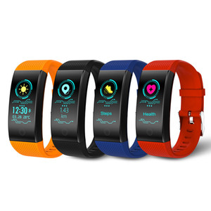 QW18 السوار الذكي ضغط الدم الأكسجين الدم معدل ضربات القلب شاشة Ip67 متتبع اللياقة ضد الماء ساعة يد ذكية ل iPhone Andorid ساعة