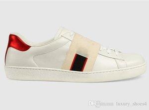 luxury designer shoes men women ace sneaker with brown elasticity stripes top quality brand designer shoes star vintage Espadrilles 34-46 m5