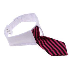 Adjustable Pet Dog Cat Necktie Collar Stripe Bow Tie Grooming Costume Supply