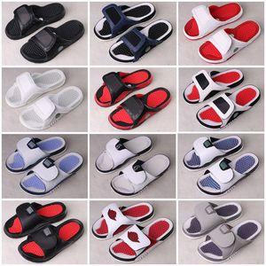 2020 Jumpman 4 terlik sandalet Hidro IV 11 1 13 Slaytlar siyah erkek Beach, sandal 11 XI 6 VI ayakkabı açık ayakkabı boyutu 36-46 4S