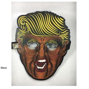 Trump Brilho máscara da borboleta Metade Máscaras Donald Trump 2020 presidente dos Estados Unidos Eleição criativa incandescência máscara máscaras completas Party Supplies HHA423