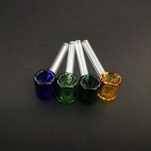 классические стеклянные ручной трубы молоток образный курительная трубка 3.26 дюймов мини стеклянные трубы прямая трубка многоцветный выбор