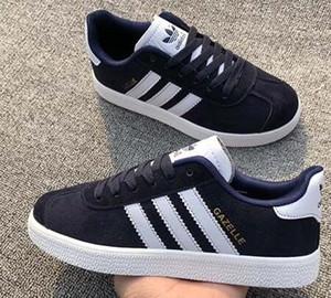 2019 Unisex GAZELLE Klasik Casual Düz ayakkabı Süet Sneakers Açık Hafif Erkekler Kadınlar Zapatillas Yürüyüş Yürüyüş Ayakkabı büyük size25-45
