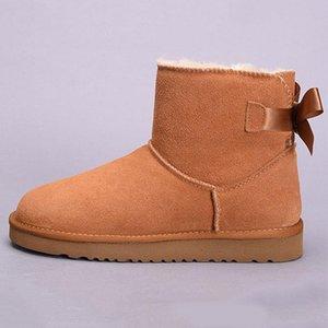 Дизайнерские женщины UG Australia австралийские ботинки зимний снег пушистый атласный ботинок ботинок ботинок меховой кожа на открытом воздухе боути обувь