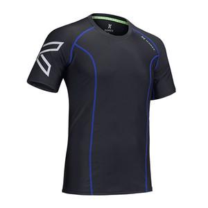 2019 HAMEK Men Compression Fitness Calzamaglia Camicia da ginnastica Palestra Camicetta Yoga Tute sportive Pullover da calcio T-Shirt Tank uomo Quick Dry