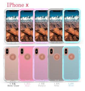 Clear Case per Iphone XS Max XR 8 Inoltre Samsung Nota 9 S10 trasparente Heavy Duty Defender caso di assorbimento di scossa di cristallo con il sacchetto del opp