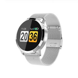 Q8 Smart Watch Fashion Fitness Tracker Monitor de ritmo cardíaco OLED Pantalla a color Smartwatch Hombres Mujeres Para IOS Reloj Android
