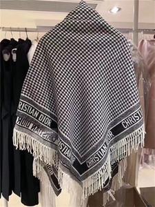 L'alta qualità cachemire mescolato donne sciarpa di autunno e inverno scialle sciarpe alla moda lungo due lati della griglia classico scialle stampa