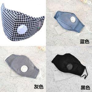 Com a respiração Válvula Máscara de Filtro Placa Respirador Boca Máscaras Unisex Dustproof Ventilação exterior Segurança 7 5JD UU
