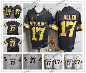 Wyoming Cowboys # 17 Josh Allen Männer Frauen Jugend Weiß Braun Genäht No Name NCAA College Football Trikots