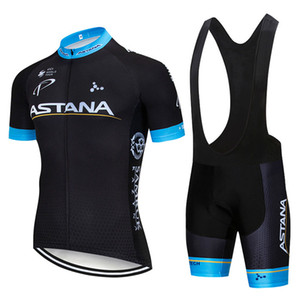2020 ASTANA Estate Nuovo Mens ciclismo maglie Set / manica corta cicla usura Salopette / Pro Team Ropa Maillot Ciclismo Gel Pad.