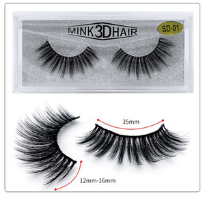 High quality Mink 3D Hair False Eyelashes lashes Soft Natural Thick Eyelashes Makeup Eye Lashes Extension Beauty Tools 20 styles DHL Ship