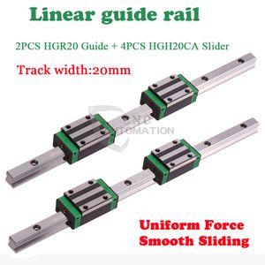 2 PZ HGR20 Guida lineare 4 pz HGH20CA Cursore L = 400 500 600 ~ 1400mm Per CNC Automation parte
