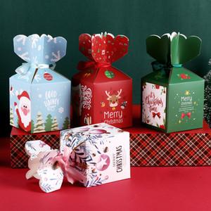 Christmas Candy Box Bag-Geburtstags-Party-Bevorzugungs-Kasten-Kuchen-Box Geschenkbox Weihnachtsdekoration Cartoon Weihnachten Apple-Verpackungs-Papier-Box DBC VT1143